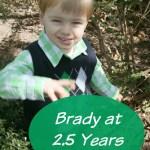 Brady at 2.5 Years