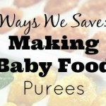 Ways We Save: Making Baby Food