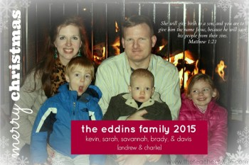Merry Christmas from the Eddins Family {2015}