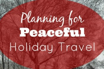 Planning for Peaceful Holiday Travel – Day 16