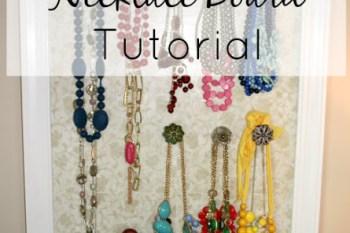 DIY Necklace Board
