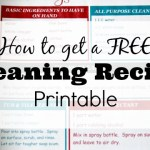 How to Get a FREE Cleaning Recipe Printable
