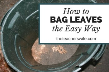 How to Bag Leaves the Easy Way