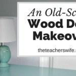 An Old-School Wood Desk Makeover