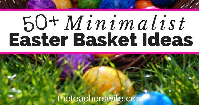 50+ Minimalist Easter Basket Ideas