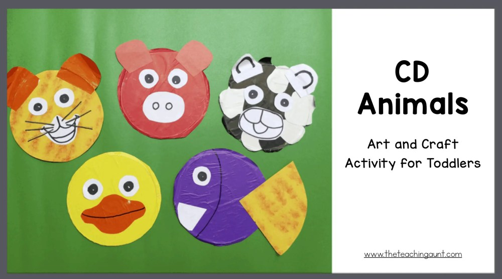 CD Animals Art and Craft for Toddlers and Preschoolers