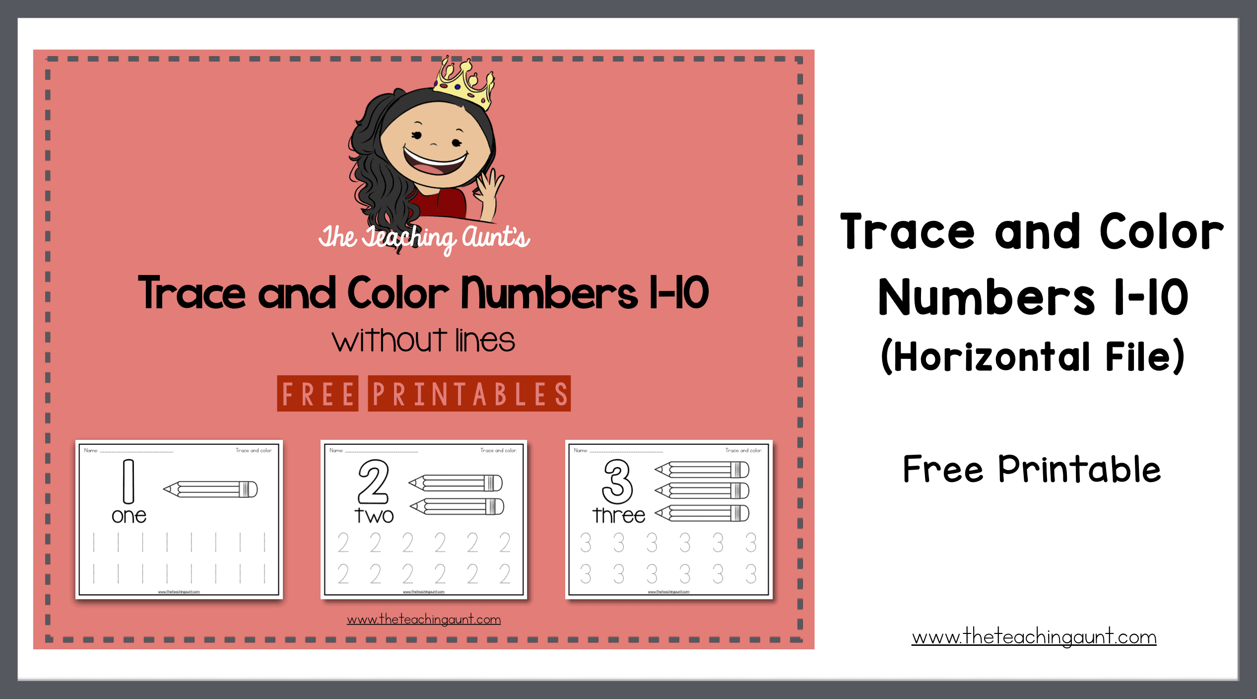 photograph relating to Printable Trace Numbers named Hint and Shade Amount Webpages - The Training Aunt