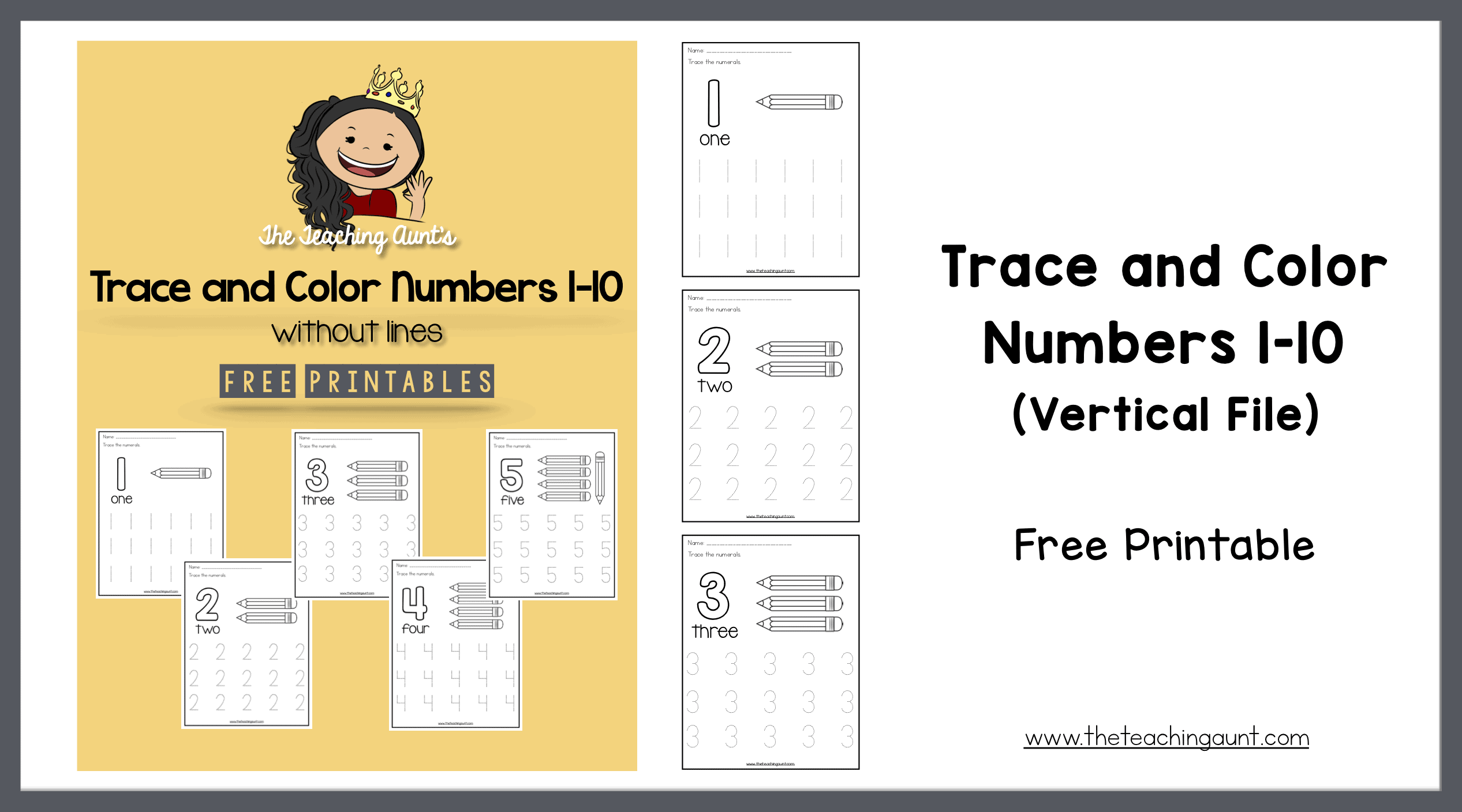 graphic regarding Free Printable Numbers 1 10 known as Hint and Colour Figures 1-10 - The Training Aunt