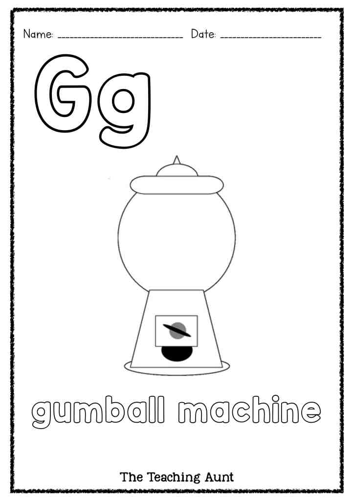 G Is For Gumball Machine Art And Craft The Teaching Aunt