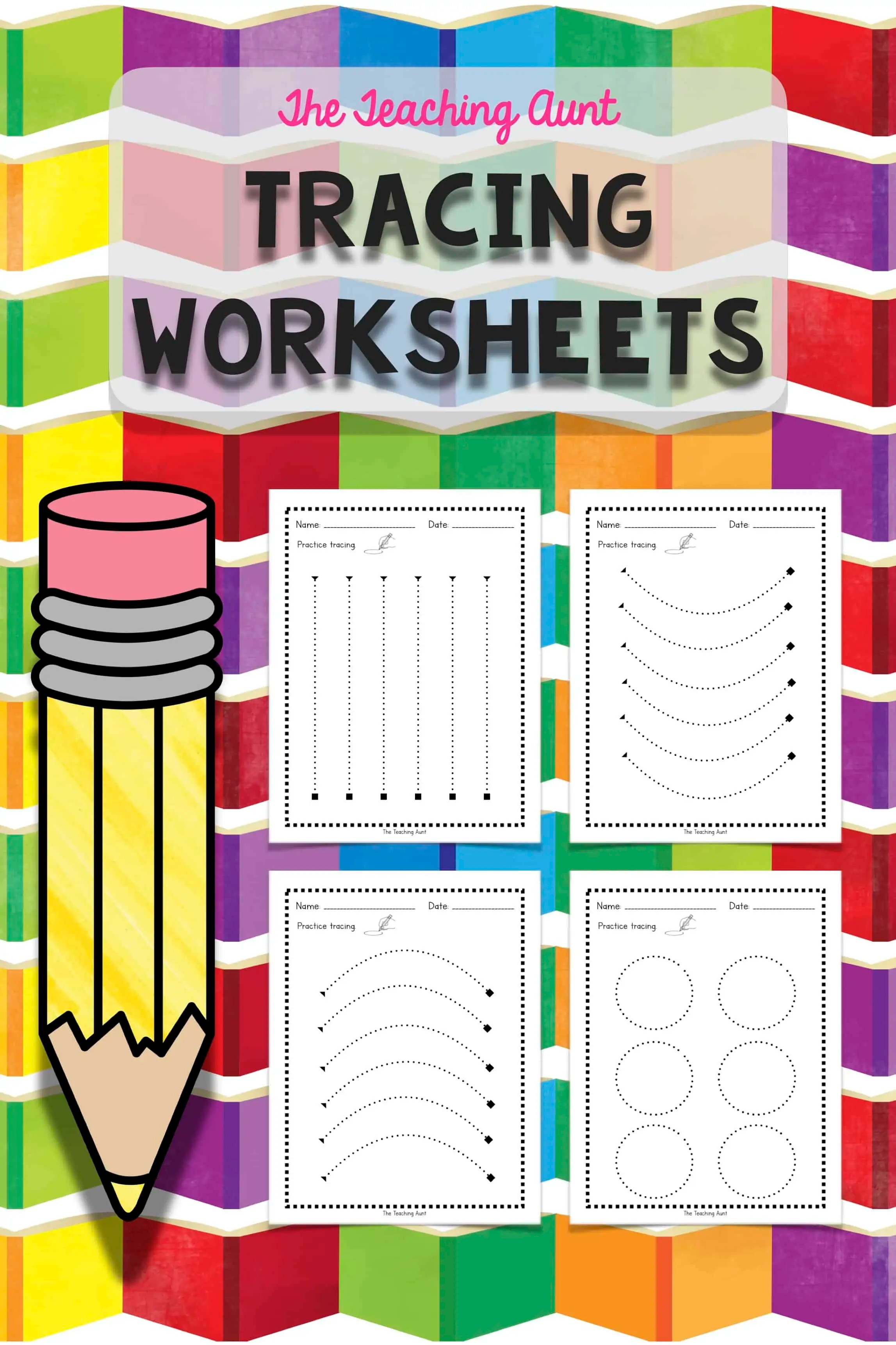 Tracing Lines Worksheets - The Teaching Aunt