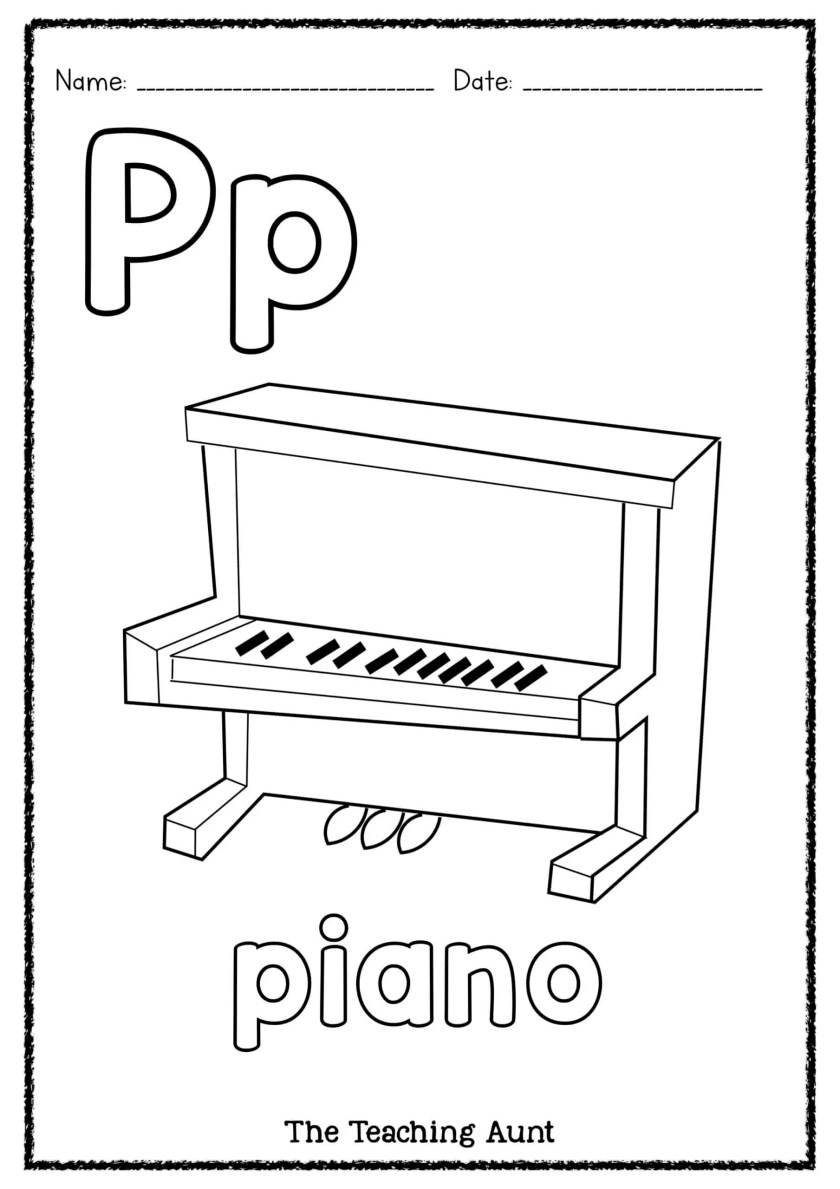 P Is For Piano Art And Craft The Teaching Aunt