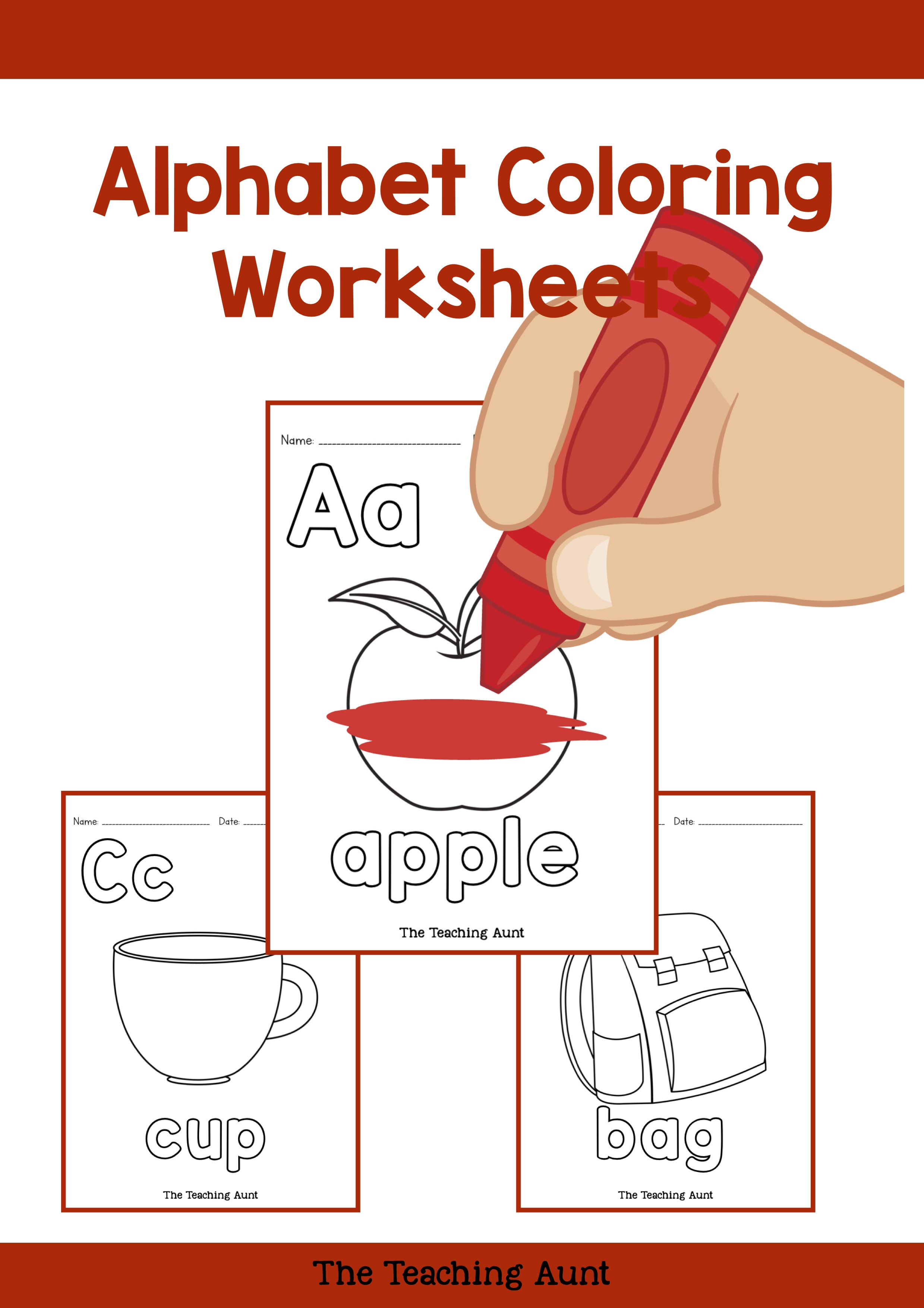 - Alphabet Coloring Pages Free Printable - The Teaching Aunt