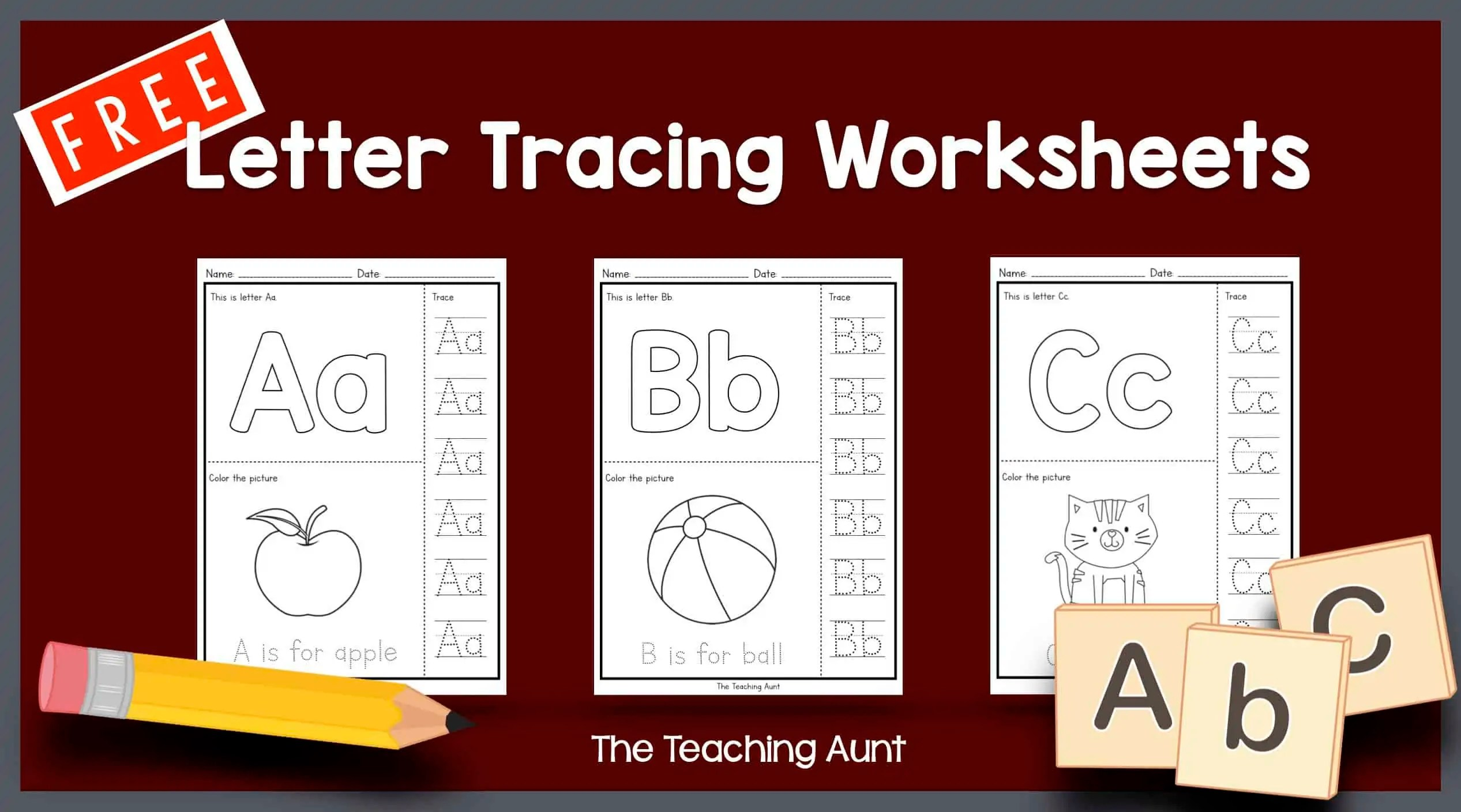 Letters Tracing Worksheets The Teaching Aunt
