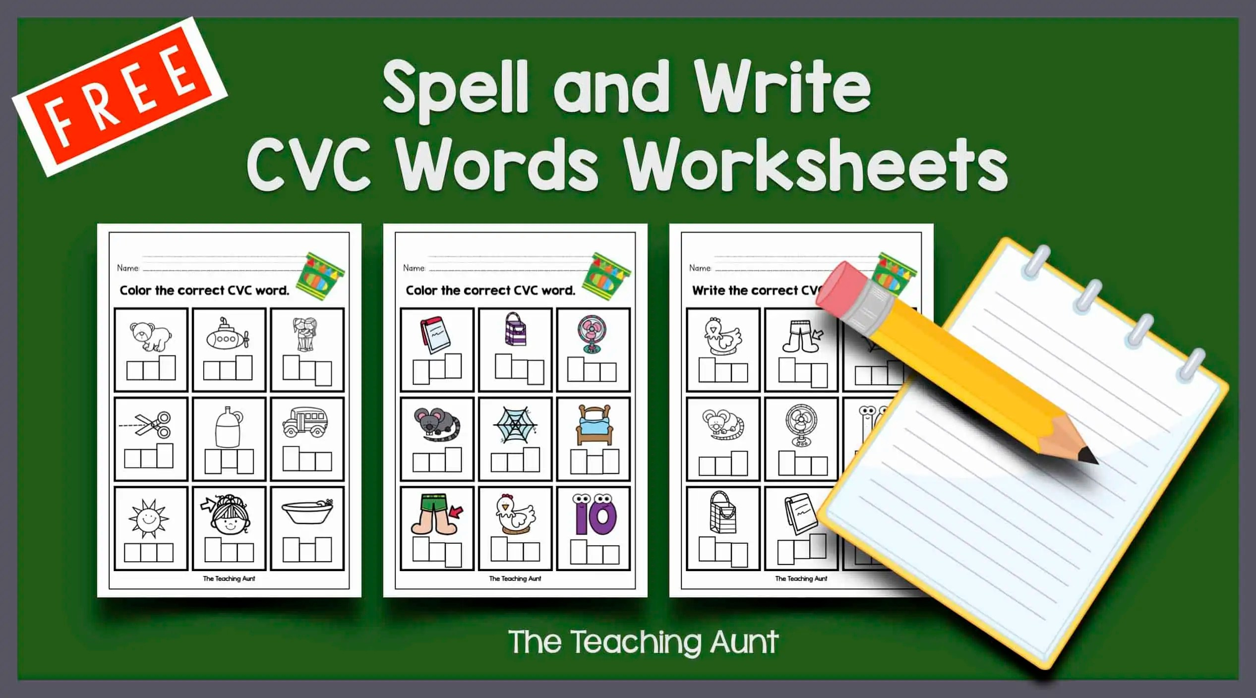 Cvc Words Worksheets For Kindergarten