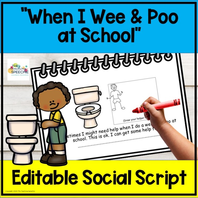 When I wee and poo at school
