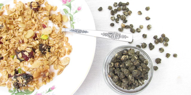 green tea granola