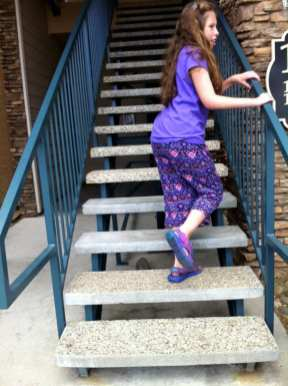 Lillian Going Up Stairs June 15 2016 #2