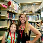 Lillian and Camilla 1st Day Volunteering at the Library 9.7.18 #2