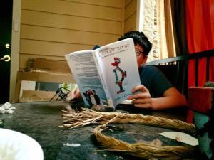 Thomas Reading My Book 8.19.17