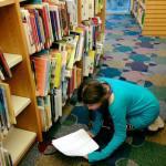 Lillian Volunteering at Library 1.10.18 #3