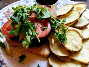 Open faced veggie burger 4.19.18
