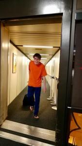 Thomas Arriving in Surprise Arizona to Visit Romano Duo 5.1.18