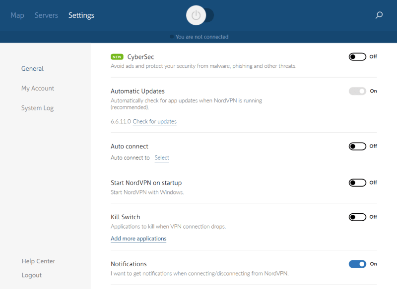 NordVPN is highly flexible and customizable
