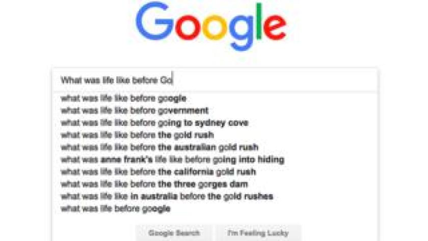 Google search bar - what was life like before Google?