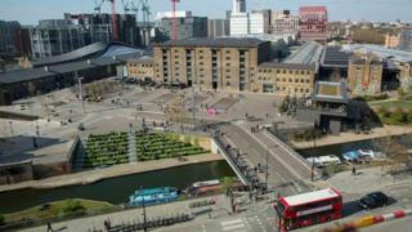 aerial view of Kings Cross