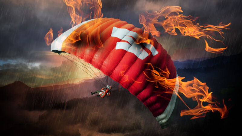 """As we learn more about Stadia's inner workings, we've begun adding some """"flair"""" to this Stadia-branded PUBG parachute."""