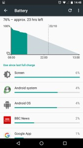 Android 6 Marshmallow Battery