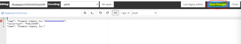 Google sellers.json file