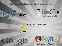 Best alternatives of MS Office