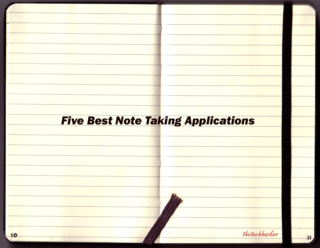 Best note taking applications thetechhacker