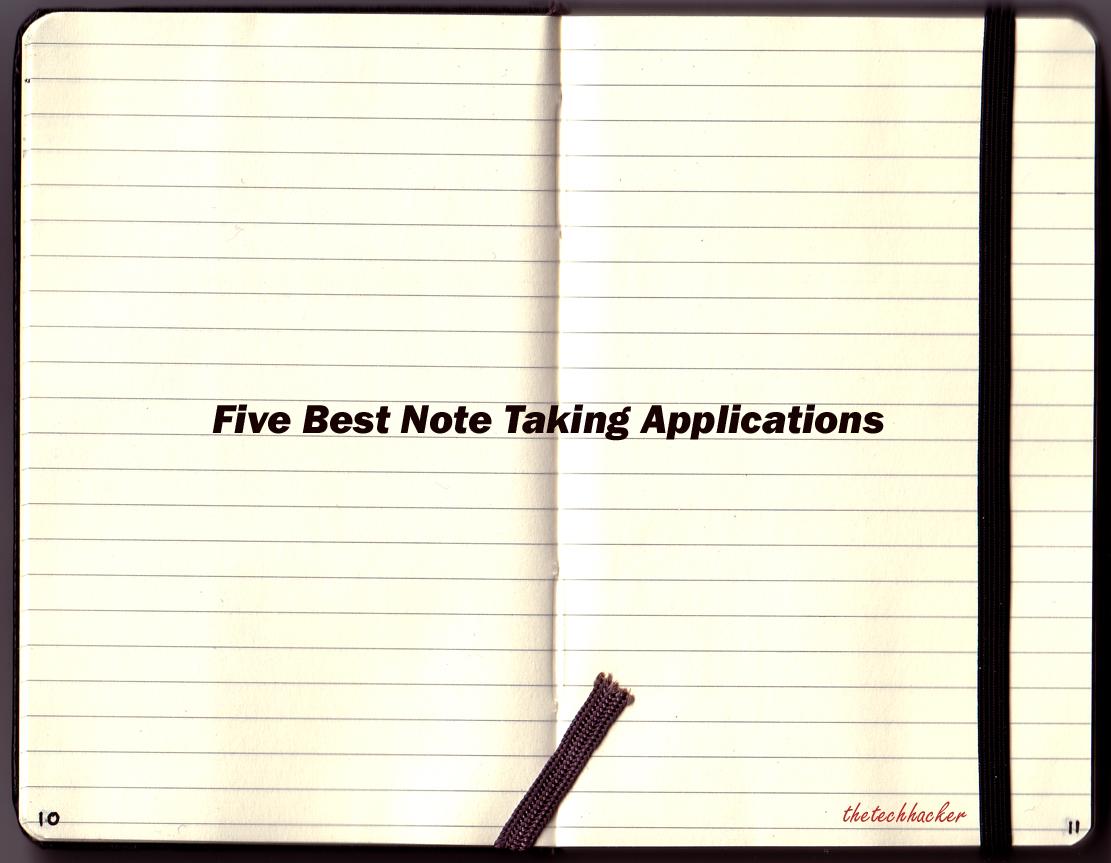 Best note taking applications thetechhacker
