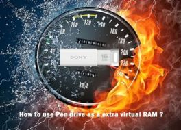 How to use Pen drive as a extra virtual RAM