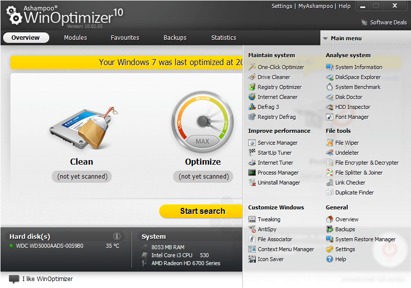 Improve Your System performance Easily With Ashampoo WinOptimizer 10