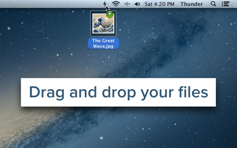 Share Files And Screenshots Instantly From Mac Menu Bar With Thunder