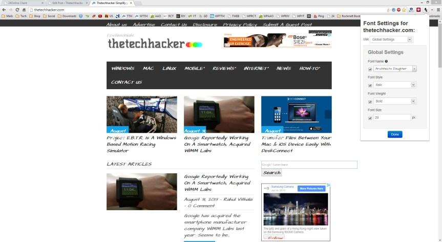 Font Changer For Chrome