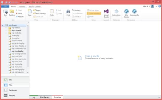 Microsoft Web Matrix