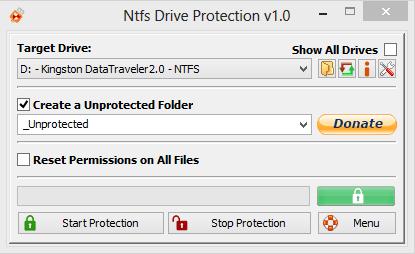 NTFS Drive Protection