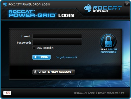 Roccat Power Grid Login