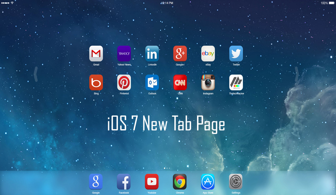 iOS 7 New Tab Page Brings iOS Style To Google Chrome