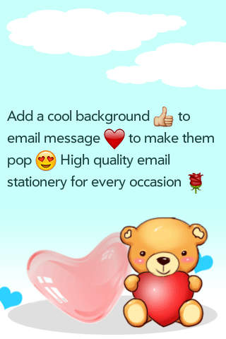 Free Email Backgrounds to generate greeting cards in iOS