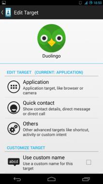 Slide Launcher Options