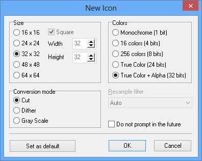 Junior Icon Editor Create New Icon