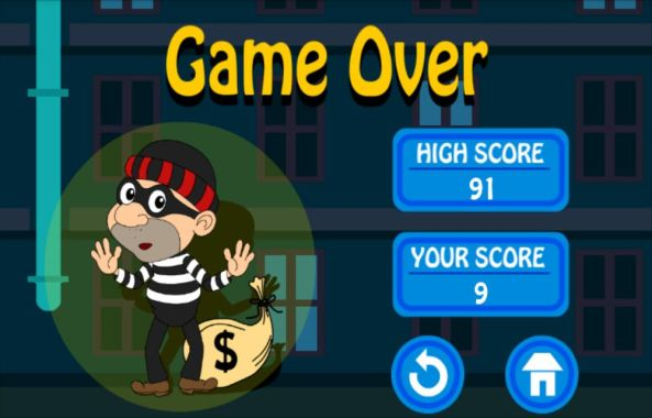 Thief Getaway Game Over