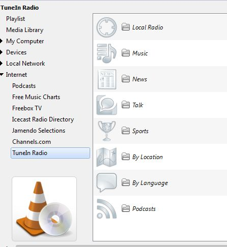 TuneIn Desktop Player App Is VLC