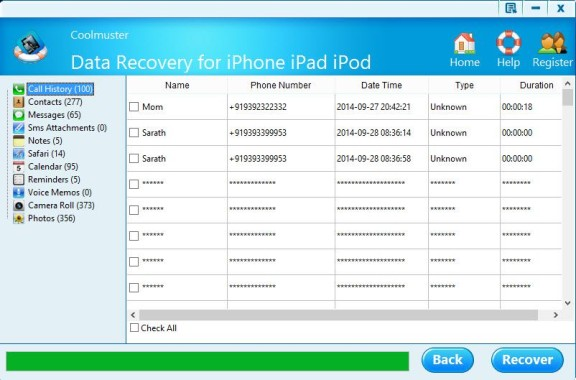 Extracting Lost iPhone Contacts