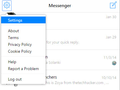 Messenger Settings